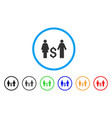 family dollar rounded icon vector image vector image