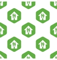 Family house pattern vector image