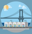 Flat design of cityscape street vector image vector image