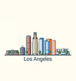 flat line los angeles banner vector image vector image