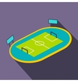 Football playground flat icon vector image