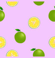 fresh lemon collection seamless background vector image vector image