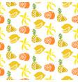 fruit seamless pattern banana lemon orange vector image