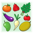 Fruits and Vegetables 02 vector image vector image