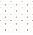 gold honeycomb graphic seamless pattern over white vector image