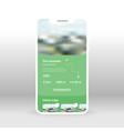 green mountains ui ux gui screen for mobile apps vector image vector image
