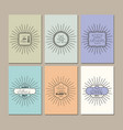 happy fathers day set cards vector image