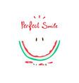 happy watermelon slogan print vector image