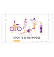 healthy lifestyle leisure sport activities vector image