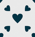 Heart sign icon Love symbol Seamless pattern with vector image vector image