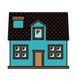 house exterior front isolated icon design vector image