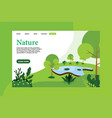 landing page with nature concept vector image vector image