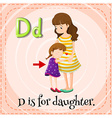 Letter D vector image vector image