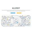 linear banner allergy vector image