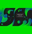 liquid blue gradation with black background vector image vector image