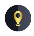 location icon black circle background image vector image
