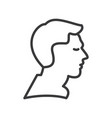 man profile line icon sign vector image vector image