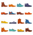 man shoe male boots and classic leather vector image