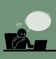 man thinking and feeling confused viewing vector image
