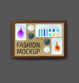 mockup modern wall frame template layout template vector image