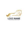 modern gold abstract horse logo design animal