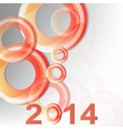 New year 2014 in white background vector image vector image
