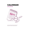 ovulation calendar vector image