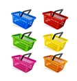 Plastic Basket Set vector image vector image