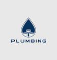 plumbing logo design template vector image