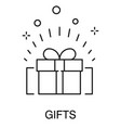 present box or gift isolated outline icon sale vector image
