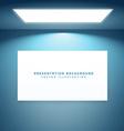 presentation board in empty room vector image vector image