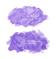 purple abstract watercolor background vector image vector image