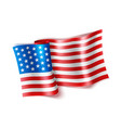 realistic waved american flag 4 july vector image