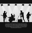 rock band silhouette on stage with text place vector image vector image