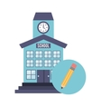 school building with education icon vector image vector image