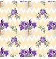 Seamless Lavender flowers background Botanical vector image vector image