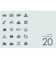 Set of coworking icons vector image