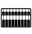 silhouette of abacus vector image