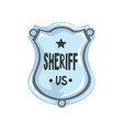 silver sheriff shield badge american justice vector image vector image