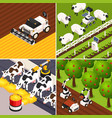 smart farm concept icons set vector image vector image