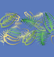 summer banner of abstract leaves on a blue vector image