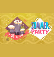 summer party vacation sea travel retro banner vector image