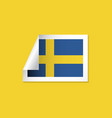 sweden label flags template design vector image vector image