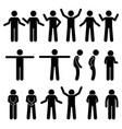 various body gestures hand signals human man vector image