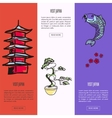 Visit Japan Touristic vector image vector image