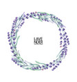 watercolor lavender wreath vector image vector image