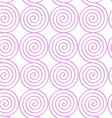 White colored paper pink spirals vector image vector image