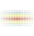 woman spectrum halftone array vector image vector image