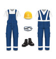 work wear and uniform set isolated vector image vector image