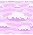 Seamless pink clouds pattern background vector image